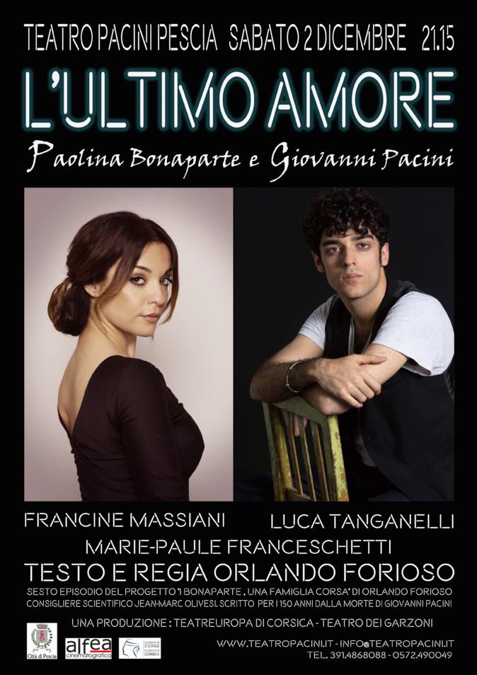 """""""Amour ultime : Pauline Bonaparte et Giovanni Pacini"""" au Théâtre de Pescia"""