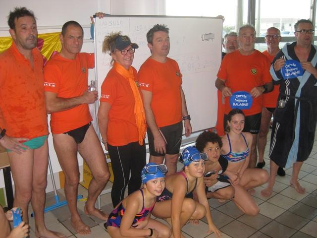 Fil rouge du Téléthon : Superbe exploit de natation pour la SNSM et les poussins du  CN Calvi-Balagne