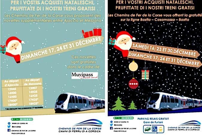 Noël arrive avant l'heure avec les Chemins de Fer de la Corse.