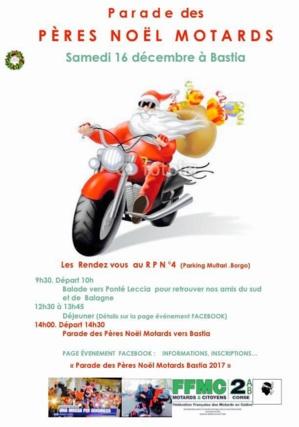 Bastia : Père Noel des motards