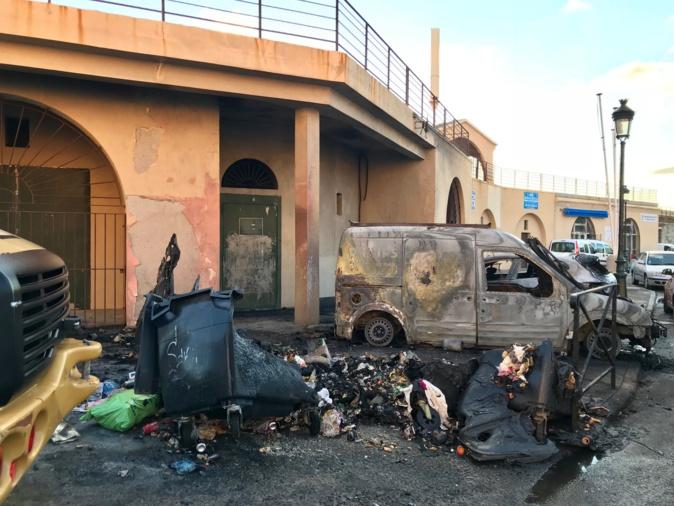 Bastia : Conteneurs en feu et voitures brûlées