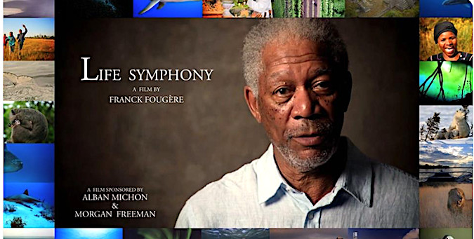 """Morgan Freeman et Alban Michon célèbrent la """"Life symphony"""" de Franck Fougère"""