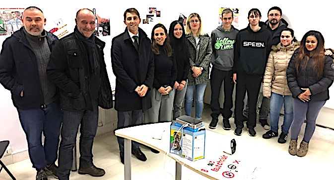 Acteurs, réalisateurs et partenaires du projet ont présenté le clip dans les locaux du CRIJ à Bastia