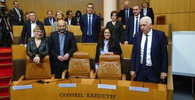 Le Conseil Exécutif de la nouvelle collectivité unie de Corse. Crédit photo : Christian Andreani.