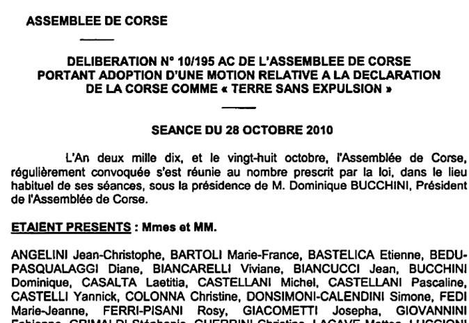 """""""Corse Terre sans expulsions"""" : Mobilisation payante à Bastia"""