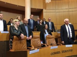 Le Conseil exécutif de la nouvelle Collecivité unie de Corse.