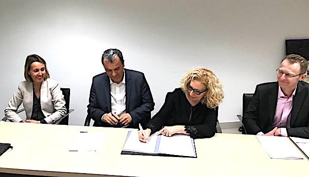 Le président du Syvadec Francois Tatti et Christine Leuthy-Molina, directrice régionale la société Citeo