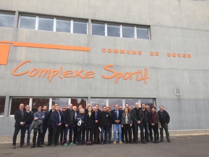 organisateurs du tournoi et délégations ont visité les différents sites de Haute-Corse jeudi