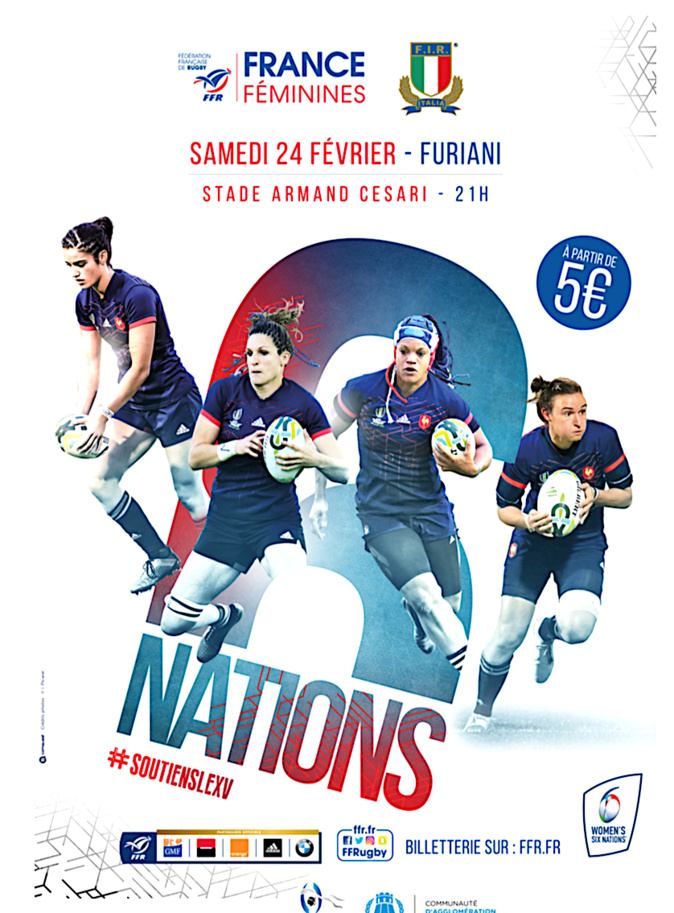 Women's Six Nations  à Furiani : La France défie l'Italie