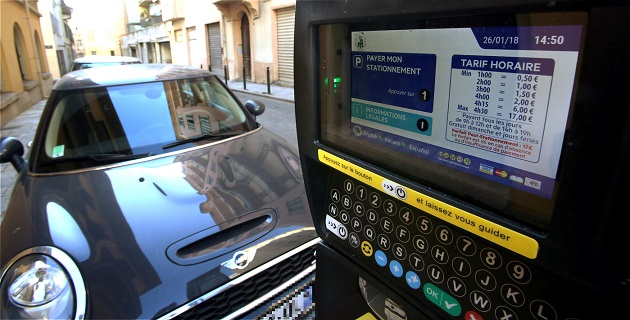 Les nouveaux horodateurs rue Major Lambruschini à Ajaccio