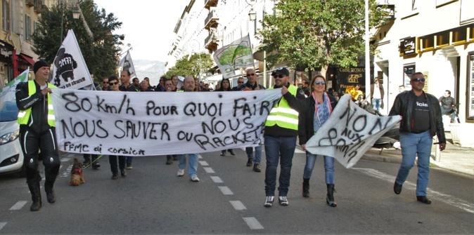 """Motards en colère à Ajaccio : """"Une mesure pour remplir les caisses de l'Etat"""""""