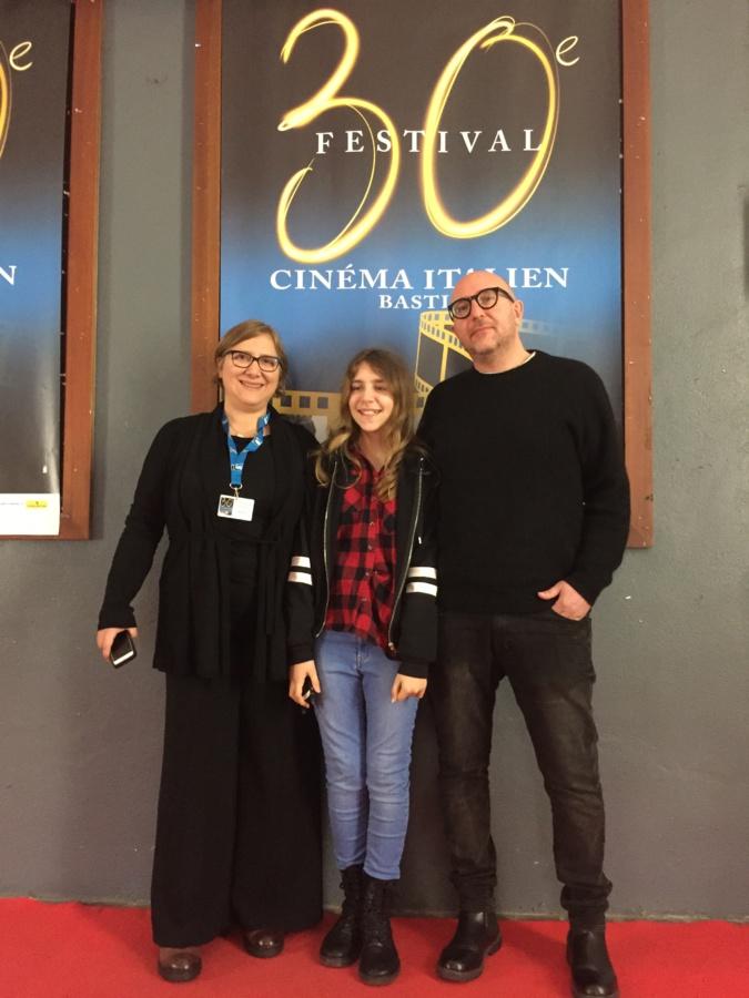 Les scénariste Valeria Giasi, Fabio di Ranno et leur fille