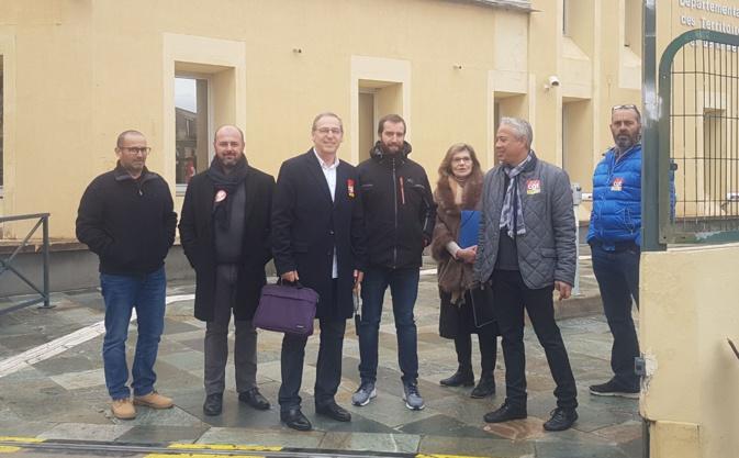 La délégation de la CGT