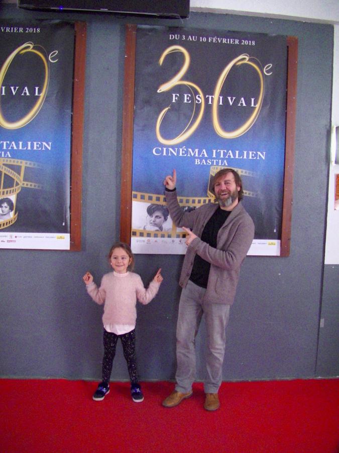 Francesco Amato et sa fille au Festival du cinéma italien de Bastia