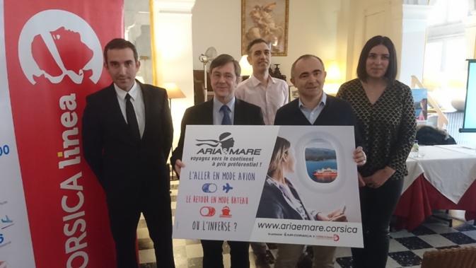 L'offre a été présentée ce mardi matin dans un café ajaccien par Hervé Pierret et Pierre-Antoine Villanova, respectivement membre du directoire d'Air Corsica et directeur général de Corsica Linea.