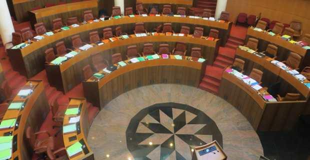 L'hémicycle de la Collectivité de Corse.