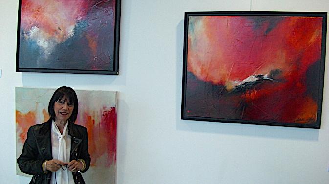 Biguglia : Les très jolies toiles de Letidor à l'espace Charles Rocchi