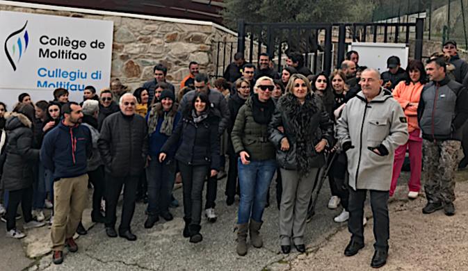 Collège de Moltifao : La mobilisation se poursuit