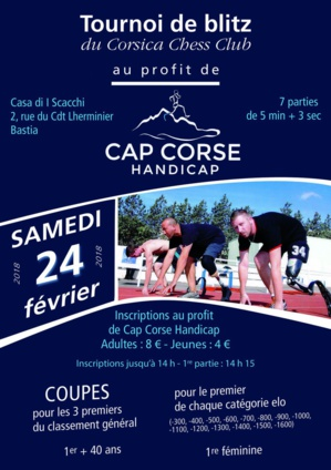 Bastia : Le Corsica Chess Club se mobilise pour l'Associu Cap Corse Handicap