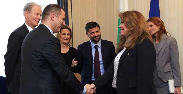 Rencontre avec Iliana Iotova, vice-Présidente bulgare.