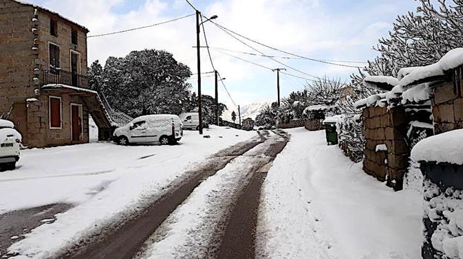 Neige : L'état du réseau routier corse en fin d'après-midi