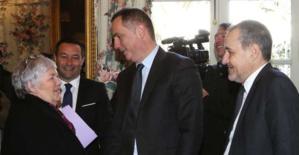 La ministre Gourault et les deux présidents corses. Crédit photo MJT.
