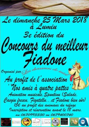 Concours du meilleur Fiadone le 25 mars à Lumiu