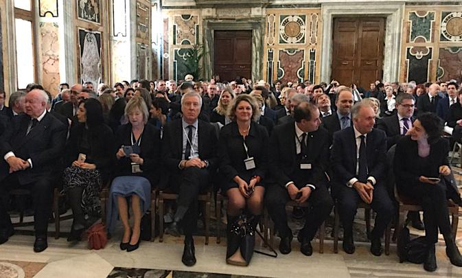 Rome : Des élus corses reçus par le Pape François