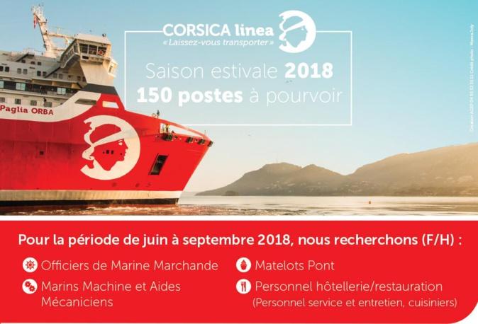 CORSICA linea recrute 150 collaborateurs pour la saison estivale 2018