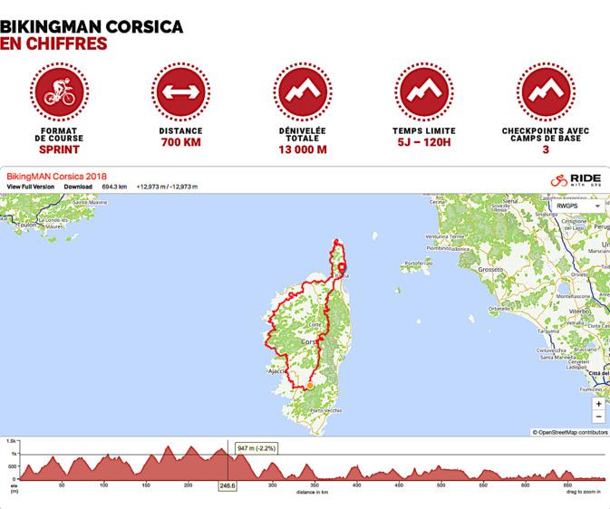 Le BikingMan Corsica après Oman et avant le Pérou et Taïwan