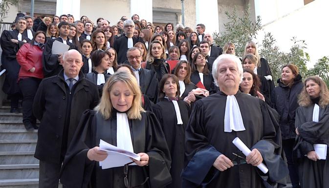 """Au mois de Février dernier les avocats des barreaux de Bastia et d'Ajaccio, les magistrats et les professionnels de la justice avaient protesté contre la """"loi de programmation pour la justice"""""""