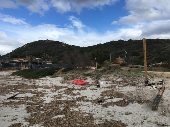 Hostile au projet, l'association Le GARDE a pris cette photo début février montrant l'état de dégradation déjà avancé de la plage de Mare e Sole.