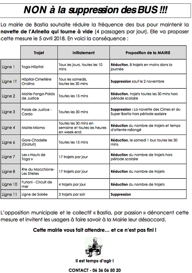 Inseme per Bastia accuse François Tatti et le MCD d'avoir « fabriqué » la polémique sur les bus bastiais