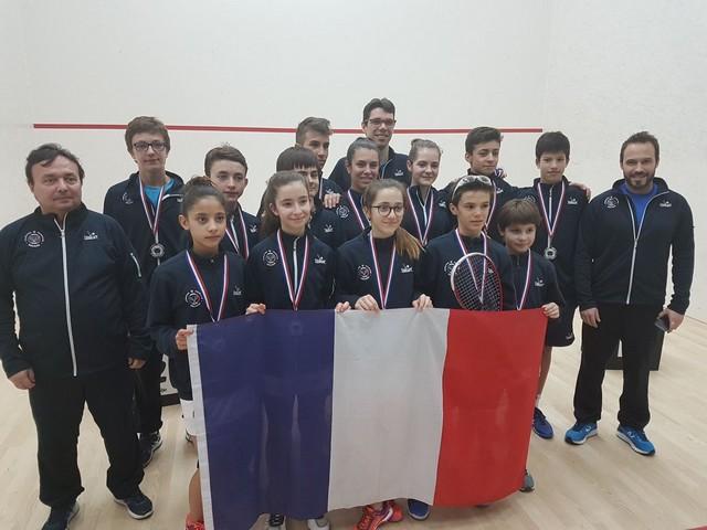 Médaille d'Argent pour l'équipe de France de squash emmenée par Antonin  Romieu