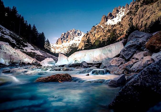 La photo du jour : La Restonica à l'heure de la fonte des neiges