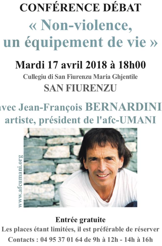 Afc-Umani : Conférence de Jean-François Bernardini à Saint-Florent