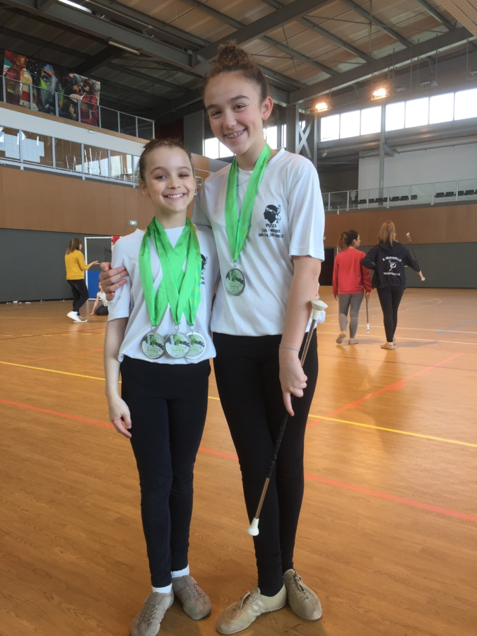 Lia-Maria et Lilou Franceschi, 5ème aux championnats du monde en duo,  portent haut les couleurs de E Marinelle