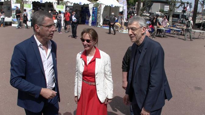 Ségolène Royal, a visité le vilage de la mer en compagnie de Pierre Savelli, maire de Bastia et Michel Castellani, député de la 1ère circonscription de la Haute-Corse