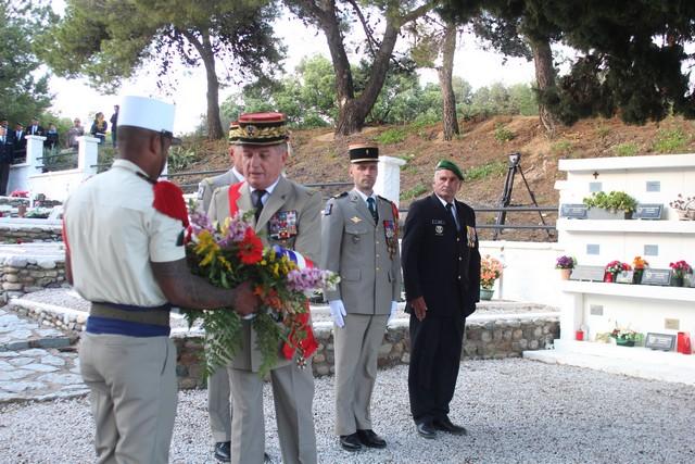 Cérémonie au carré militaire de Calvi en mémoire des victimes de Kolweizi