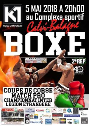 Gala multi boxes le 5 mai au complexe sportif de Calvi