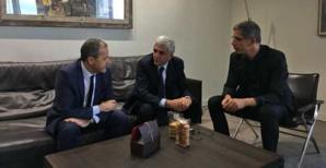 Hervé Morin avec Jean-Guy Talamoni et Pierre Savelli.