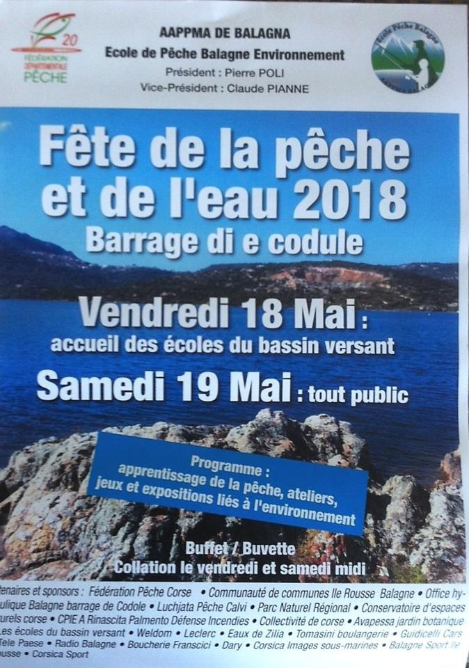 17ème fête de la pêche et de l'eau  au barrage de Cotule les 18 et 19 mai
