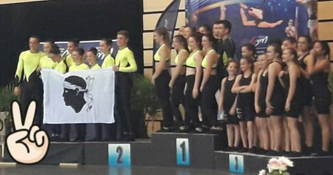 Le Bastia team gym vice-champion de France