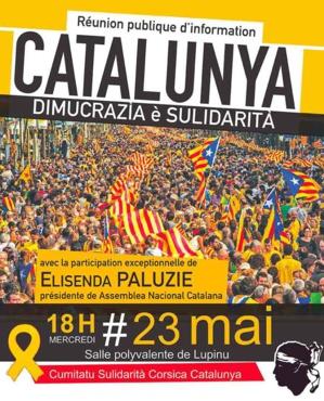 Corse-Catalogne : La présidente de l'ANC, Elisenda Paluzie, à Bastia pour défendre la cause catalane