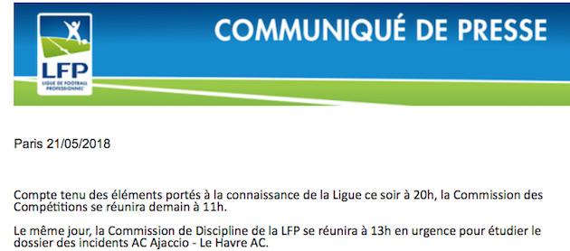 Le Havre veut jouer les barrages face à Toulouse ! Réunion d'urgence des commissions des compétitions et de discipline