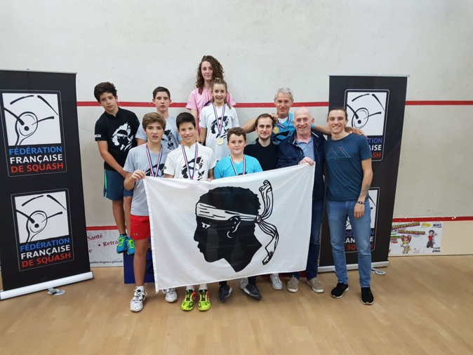 Les U13 de L'Ile-Rousse champions de France de squash