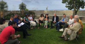 Séance de travail avec les élus, l'IFRTS et la CCAS pour trouver des solutions.