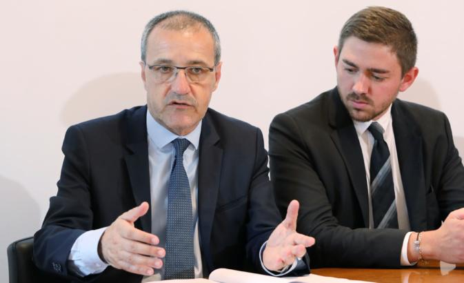 Jean-Guy Talamoni et Petru Antone Vesperini, vice-président de l'Assemblea di a Giuventù..