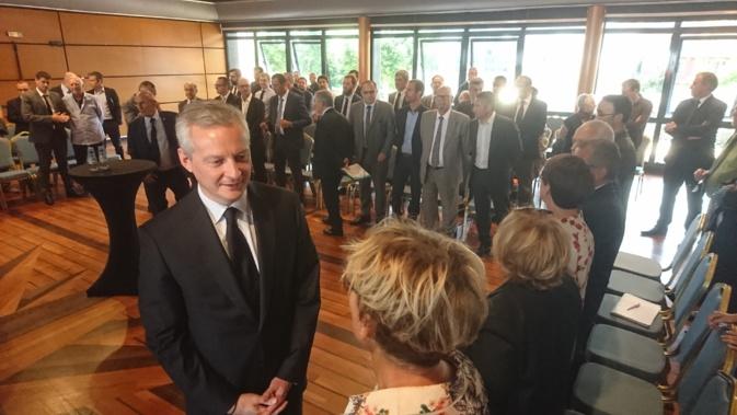 Bruno Le Maire a rencontré les acteurs économiques de l'île ce mardi après-midi à Ajaccio.