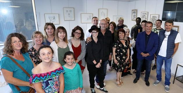 Vernissage au Borgu pour l'exposition de Marie-Claire Benedetti et  Gérard Bougeant / Photo MJT